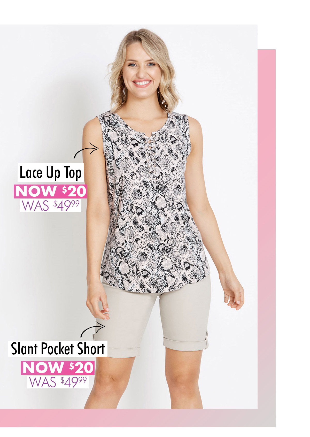 The perfect summer pieces only $20*
